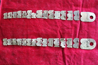 Napoleonic French shako chin scale lot complete set Nice 1812 Russian Campaign