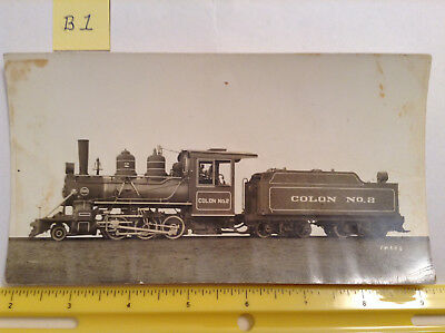 Baldwin Locomotive Works Train Photo Card