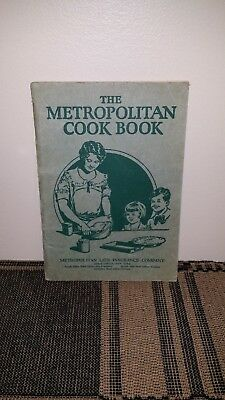 The Metropolitan Cookbook, Cook Book, Vintage, Life Insurance Advertising, Green