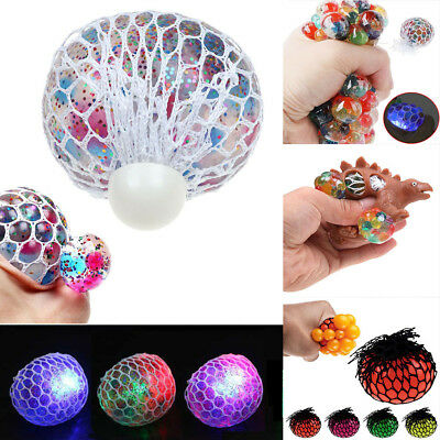 Anti-Stress Squishy Mesh Ball Grape Squeeze Sensory Fruity Toys Anxiety Relief
