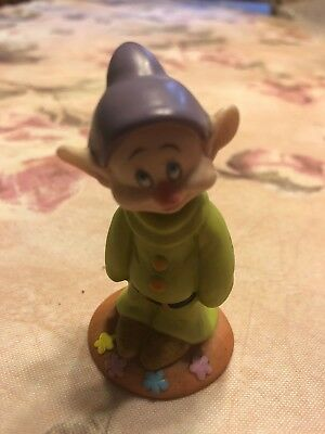 Grolier Disney Snow White's Dopey the Dwarf Porcelain Mini Figure Figurine