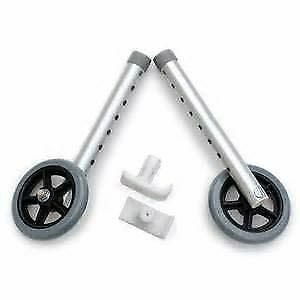 Invacare Single Spoked Fixed-Wheel Attachments w/ Rear Glide Tip 33-39in 2 Count