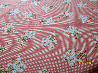 1970s Rayon Fabric remnant made in Japan - Vintage Fabric