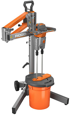 Electric Power Mortar Mud Grout Mixer Smart Dual Paddle Portable W/ Stand RIDGID