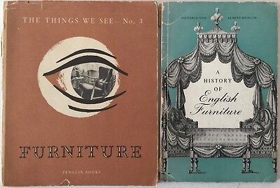 FURNITURE Victoria Albert Museum History English & THINGS WE SEE 1940's BOOKLETS