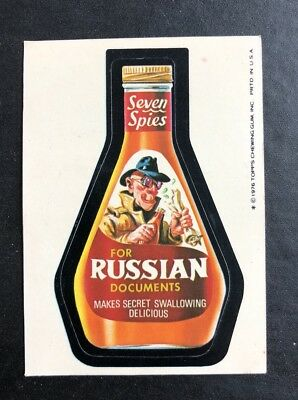 1975 Topps Wacky Packages Original 16th Series 16 RUSSIAN 7 SEAS SPIES
