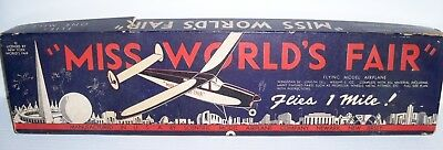 1939 Miss World's Fair Flying Model Plane by Scientific Model Airplane Company