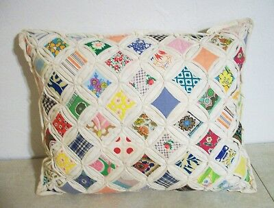 Vintage Quilt Style Accent Throw Pillow