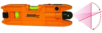 Torpedo Laser Level Line Durable 7 In. Magnetic Edge 100 Ft Range 3 Vial Johnson