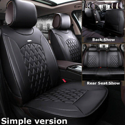 Simple Version Leather Seat Cover For Toyota Camry Prius Corolla RAV4 Front+Rear