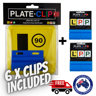 2 x Blue Plate Clips with 2 x L Plates | FREE Postage | NSW Only