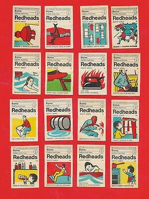 Complete Series of GENERAL SAFETY matchbox labels from Australia