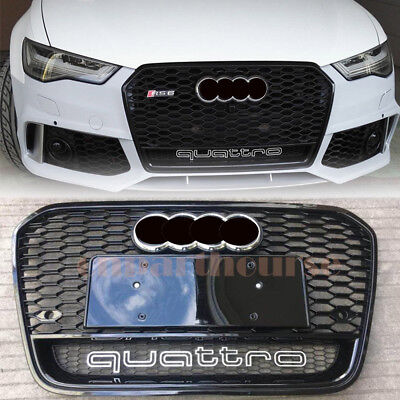 FOR AUDI A6 S6 RS6 B7 Quattro 2012-2015 2014 13 Front Bumper Grill Upper  Grille