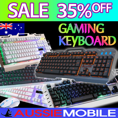 Pro Gamer's Keyboard Various Type Led Backlit Light Mechanical Touch Wired Usb
