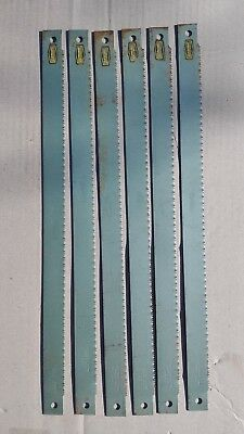 "6 Pieces England HSS Power Hacksaw Blade ESC Cyclone 425mm x 25mm 10T (17"" x 1"")"