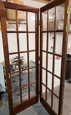 Vintage Victorian Bi-Fold French Door.