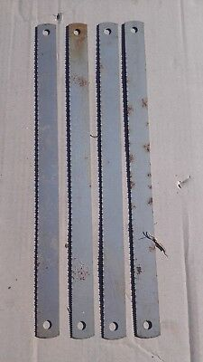 "4 Pieces HSS Power Hacksaw Blade ESC Cyclone 425mm x 31.5mm 10T (17"" x 1 1/4"")"