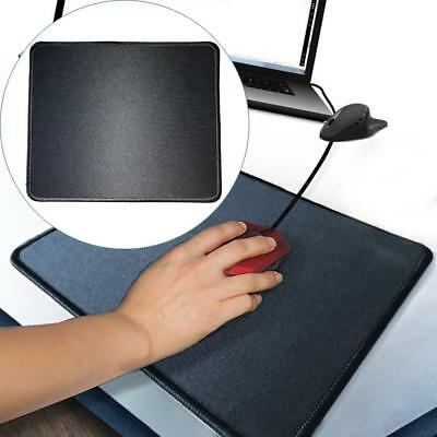 Black Fabric Mouse Mat Pad High Quality 5mm Thick Non Slip Foam 25cm x 22cm