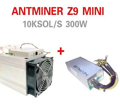 Bitmain Antminer Z9 mini 10k Sol/s Equihash Zcash with PSU batch end of August
