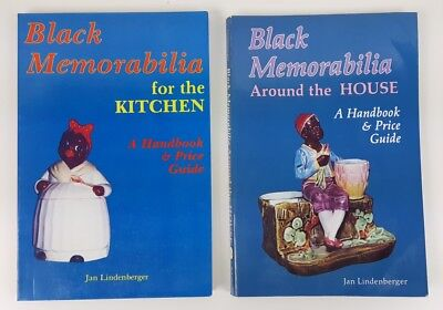 ANTIQUE Black Americana Collectibles Guide Collector Handbook Price Lot of 2