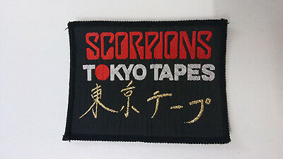 Scorpions Tokyo Tapes metal rock Vintage Sew On patch music