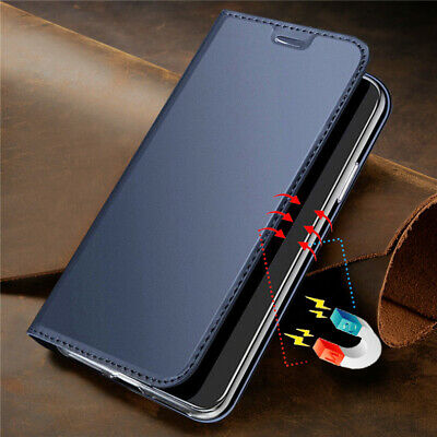 For Samsung Galaxy A8 A6 Plus 2018 Magnetic Flip Card Wallet Leather Case Cover
