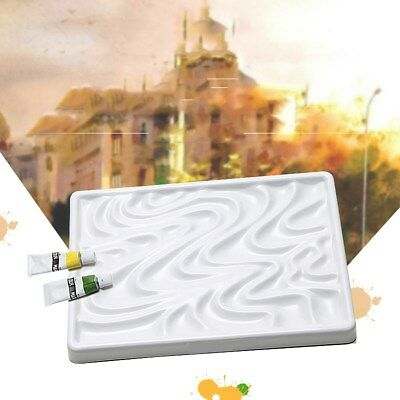 Wave Imitation Ceramic Palette Ripple Water Color Plate Watercolor Painting Kit
