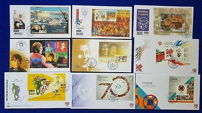 Malta Special Hand Stamp Cancellations SHC on  Covers Miniature sheets