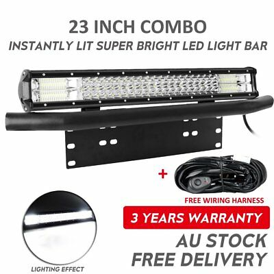 23 inch 1080W CREE LED Light Bar Combo + 23'' Number Plate Frame Mount Bracket