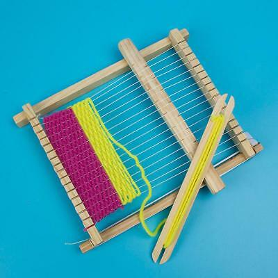 AU! Weaving Loom Kids Toy Wooden Craft Traditional Hand Pretend Play Knitting