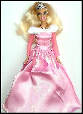 Brand new barbie doll clothes outfit wedding evening princess Aurora Dress.