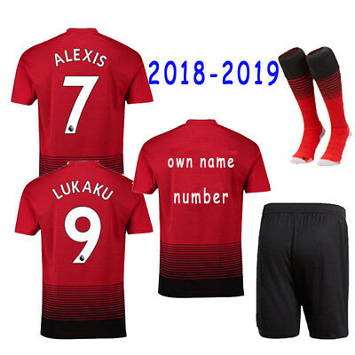 2018-2019 Soccer Suits Football Kits Sportswear Jersey For Kids Adults 3-14Yrs