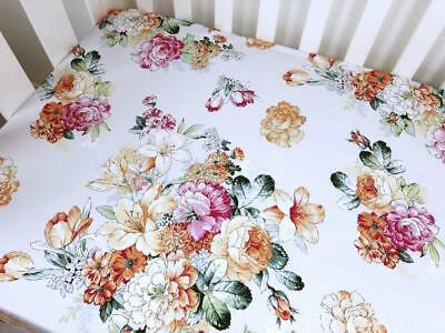 Summer Floral COT FITTED SHEET