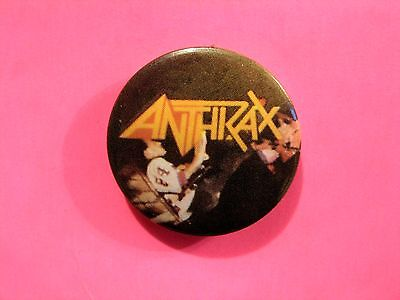 Anthrax Vintage Button Badge Pin Uk Made Not Shirt Patch Cd Lp Poster Flag