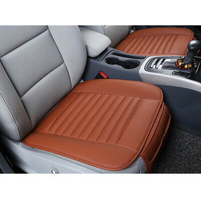 3D Universal Breathable Bamboo Charcoal PU Leather Auto Car Seat Cover CushionAU