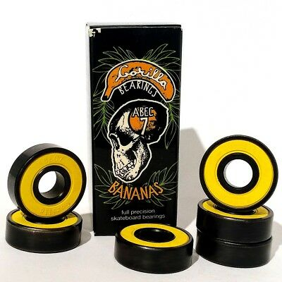 Gorilla Bearings Bananas - Precision ABEC 7 Skateboard and Scooter Bearings (8)