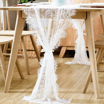 14 X 120 Inches Romantic Lace Tablecloth White Lace Wedding Table Cover
