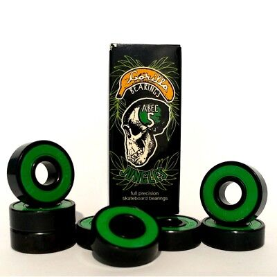 Gorilla Bearings Jungles - Precision ABEC 5 Skateboard and Scooter Bearings (8)