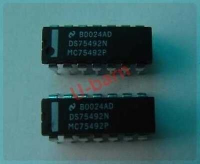 1pcs 75492 HEX DIGIT DRIVER for LED Display 250mA HFO RFT = SN75492N