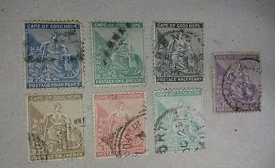 Cape of good hope used postage stamps.