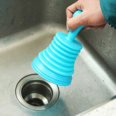 Manual Clog Cannon Air Power Drain Blaster Toilet Kitchen Sink Plunger Cleaner