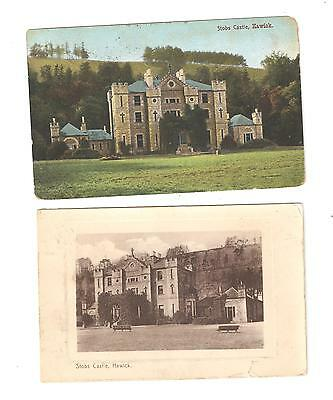 Two Postcards of  Stobs Castle Hawick Roxburghshire  Scotland