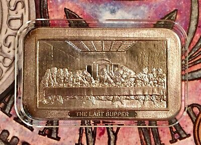 The Last Supper Jesus Religious Rare 999 Silver Art Bar 1 Troy Oz ART-2
