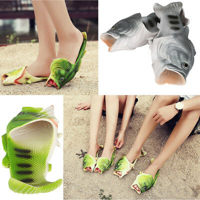 Unisex Fish Shower Slippers Cabbage Funny Beach Shoes Sandals Bling Flip Flops
