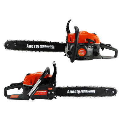 "Commercial Petrol Chainsaw 58cc 20"" Bar E-Start Chain Saw Tree Pruning 2*Chains"