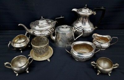 Joblot of 9 Pieces of Vintage Silver Plated Items (Approx Weight 3kg) - O3