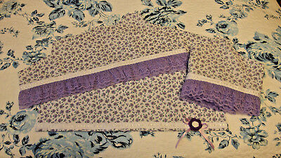 Set/3 Dust covers/Hanger protectors Handmade w/Lavender Floral Print Fabric, NEW