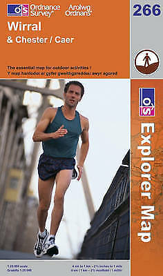 Wirral & Chester Explorer OS266 Ordnance Survey Map NEW