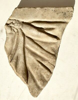 Original Roman Carved Marble Sculpture Fragment With Upraised Dagger