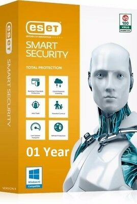 ESET SMART SECURITY  Version 12.0 -Global original key- 1 PC 1 year till 2019/20